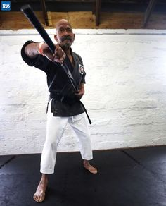 Sensei Skipper Ingham. Age? For Skipper Ingham, it's only a number.  At 86 he still pumps iron and teaches karate at the dojo he started in 1970.  He placed second in the World Cup Finals Open Martial Arts Championships in Virginia this month; his competitors were half his age.  (Photograph by Blaire Simmons)