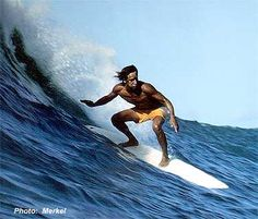 The unmistakable style of one of surfing's legends. Eddie Aikau