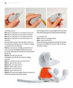 Amigurumi Tutorial Crochet Patterns Amigurumi Crochet Toys Crochet Crafts Crochet Projects Knitting Patterns Raton Perez Paper Dolls Learn To Crochet Crochet Animal Patterns, Crochet Doll Pattern, Crochet Patterns Amigurumi, Crochet Dolls, Doll Patterns, Crochet Rabbit, Crochet Mouse, Free Crochet, Crochet Crafts