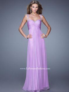 2015 A-line Lilac Chiffon Long Prom Dress /Formal Dress/ Evening dress La Femme 20678