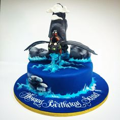 Hiccup & Toothless Cake