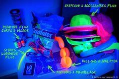Soirée d'anniversaire fluo party accessoires 3