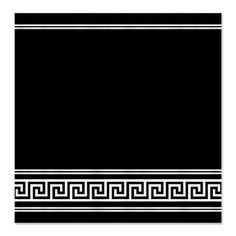 Classic Geometric Black Art Deco Shower Curtain