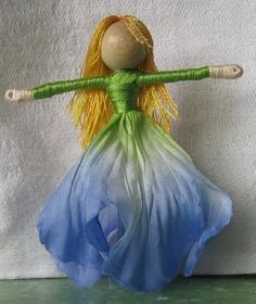 Flower Fairy Doll Poppy Flower Art Doll by TracysGardenFairies
