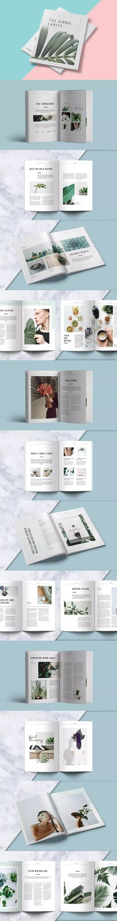 Clean Magazine Template InDesign INDD - A4 and US Letter Size