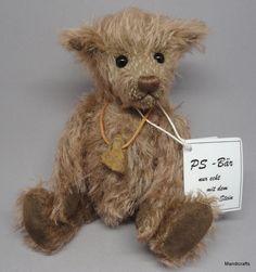 #PS Baren Peter Steiner #Teddy Bear Krumel Mohair Plush 2006 Tag Signed Germany