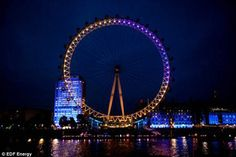 August 10, 2012 - Denuology.com: Twitter Light Show Displays London's Olympic Mood On London Eye