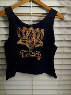 Namaste Peace Tank Black/Amber by TheLotusPetals on Etsy, $20.00