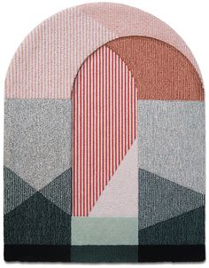 These rugs are handcrafted in Italy from New Zealand wool with bright, geometric patterns. Made by Portego