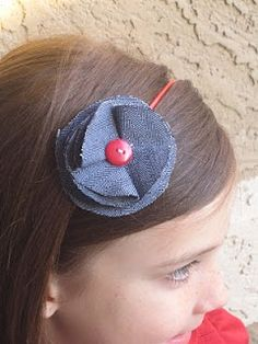 Fabric Flower Headbands - Somewhat Simple