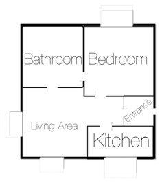 """1 room 1 bedroom house #houseplan"" by uveyskartalx on Polyvore featuring interior, interiors, interior design, ev, home decor, interior decorating ve bedroom"