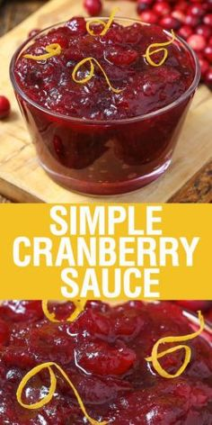 Simple Cranberry Sauce with just 3 ingredients is a Thanksgiving staple that has never tasted this good! This easy recipe is a family tradition, and it will be yours too.