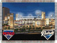 MLB Petco Park Stadium Stadium Tapestry Throw