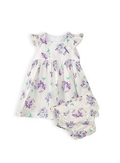 Pumpkin Patch - dresses - square neck dress with knickers - S4BG80007 - bright white - 0-3m to 18-24m