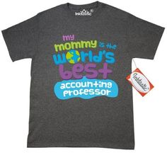 Inktastic My Mommy Is The Worlds Best Accounting Professor T-Shirt Child's Kids Baby Gift Professor's Daughter Childs Like Cute Occupation Apparel Mens Adult Clothing Tees T-shirts Hws, Size: XXXL, Black