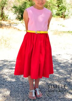 A Color-blocked Birthday Dress.