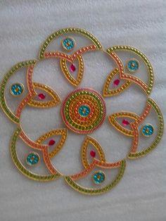 Perfect for diwali decor or gifting. Acrylic Rangoli, Ethnic Home Decor, Kolam Rangoli, Diwali Decorations, Arabesque, Clay Art, Bling, Gifts, Mosaics