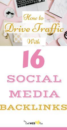 Social media strategies: Link building from social media. Create 16 social media backlinks for free