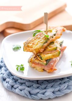 Cheese and ham zucchini Other Recipes, Veggie Recipes, Baby Food Recipes, Vegetarian Recipes, Tapas, Kids Meals, Easy Meals, Healthy Recepies, Zucchini