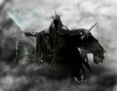 The Witch-king of Angmar, also known as the Lord of the Nazgûl and the Black Captain Dark Fantasy, Medieval Fantasy, Fantasy Art, Witch King Of Angmar, Lord Of The Rings Tattoo, King Tattoos, Jrr Tolkien, Dark Lord, Weeping Angels