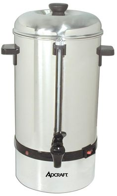Stainless Steel 40 Cup Percolator (CP-40) Ideal For any institution, Adcraft's new coffee percolators are constructed of durable stainless steel and each unit is equipped with a clear water level gaug