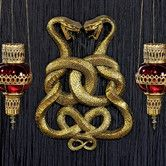 Add depth and texture to your interior space with the Design Toscano Egyptian Infinity Cobra Twins Wall Plaque. These tributes to ancient Egyptian symbols are finished in a gold hue, bringing a burnished glow to your decor. Tribal Tattoos, Tattoos Skull, Moon Tattoos, Symbol Tattoos, Celtic Tattoos, Egyptian Temple, Egyptian Art, Ancient Egyptian Jewelry, Egyptian Tattoo