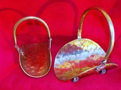 Vintage Brass Baskets Set of 2 by DeeSweetNostalgia on Etsy, $14.99