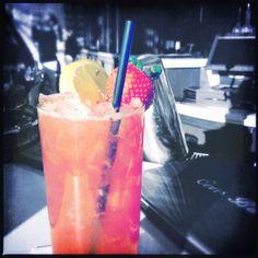 Sideshow Novel-Tea:Absolut Wild Tea vodka, iced tea, strawberry puree and fresh lemon juice. The Cove Bar. Anaheim, CA