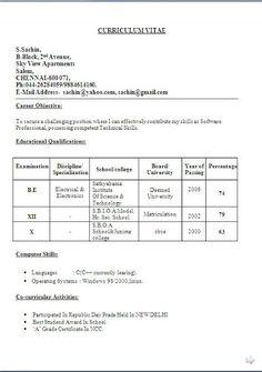 Successful Resume Templates Sample Templateexcellent Curriculum