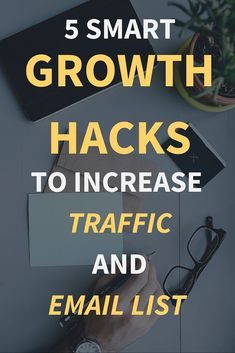Increase Traffic And Email list: 5 Smart Growth Hacks Email Marketing Strategy, Marketing Automation, Online Marketing, Marketing Ideas, Viral Marketing, Social Marketing, Content Marketing, Blogging, Growth Hacking