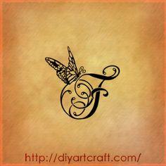 Lettere tattoo: 9 singole A | F | G | J | K | L | S | T | V F-tattoo-farfalla – tattoo diyartcraft