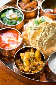 North Indian Thali Set Meal at Passage Thru India #indiancuisine #food #indianfood