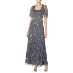BuyRaishma Ella Embroidered Gown, Charcoal, 8 Online at johnlewis.com