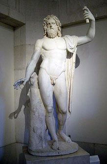 This is the statue of Jupiter. Jupiter is Zeus' Roman counterpart meaning this Roman god was believed to be the god of thunder and the ruler of all gods. This is important to early Roman culture because they did adopt a lot of religion from the Greeks. Roman Mythology, Greek Mythology, Ancient Rome, Ancient Greece, Ancient Art, Odin Thor, Greek Demigods, Statues, Sculptures