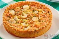 Receita de Quiche de palmito especial em receitas de tortas salgadas, veja essa e outras receitas aqui!