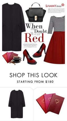 """""""Red alert"""" by helenevlacho ❤ liked on Polyvore featuring Non, Sloane Stationery, Forum and sammydress"""