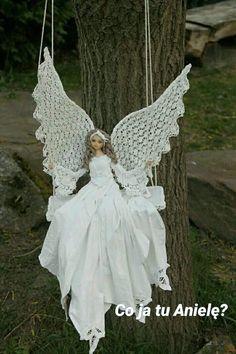 icu ~ Best 12 – Page 546272629801922749 – SkillOfKing. Christmas Angel Decorations, Christmas Angels, Diy Nativity, Christmas Front Doors, Crochet Angels, Angel Crafts, Beautiful Barbie Dolls, Denim And Lace, Fairy Dolls
