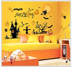 PVC Vinyl Removable Wall Stickers for Halloween Room Decor