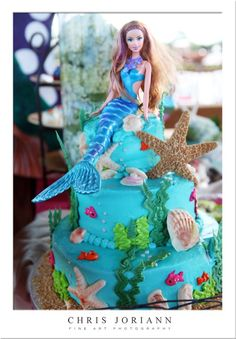 Here is a sneak peek at Kierra's Under-The-Sea 5th Birthday Bash based on Barbies: A Mermaid's Tale, soon to be featured in Baby Lifestyle Magazine. Weeks before the event, tiny invitat…