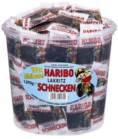 Haribo Lakritz Schnecken 100 Minibeutel, 1er Pack (1 x 1.27 kg): Amazon.de: Lebensmittel & Getränke