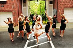 Bachelorette Party: Everyone wears black and bride wears white