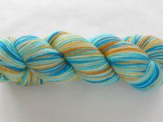 Hand Dyed Sock Yarn  Prime Sock Eurasian Kingfisher by gnarledpaw, $30.00