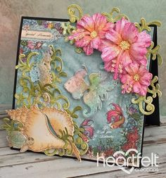 Heartfelt Creations   Sea Life Pink Hibiscus