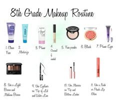 """8th Grade Makeup Routine"" by sweet-cakes101 on Polyvore featuring beauty, Clean & Clear, COOLA Suncare, NYX, Kat Von D, Milani, NARS Cosmetics, Urban Decay, Guerlain and Too Faced Cosmetics"