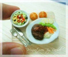 RESERVED for Conaira Miniature Steak by ToothFairyMiniature