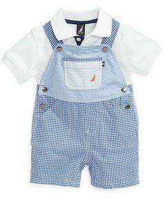 Nautica Baby Boys' 2-Piece Polo Shirt & Shortalls Set