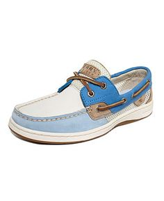 Blue / White / Tan Mesh Sperry Top-Sider Womens Shoes, Bluefish Boat Shoes - Shoes - Macys