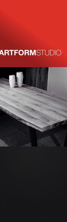 Contemporary live edge solid oak table