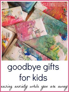 Goodbye Gifts for Kids: Easing Anxiety While Parents Are Away - Homegrown Friends Friend Moving Away Gifts, Moving Gifts, Going Away Gifts, Cool Gifts For Kids, Diy For Kids, Goodbye Gifts, Daddy Day, Kids Schedule, Presents For Best Friends