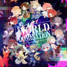 Song: World Domination Anime Kawaii, Anime Chibi, Vocaloid, Anime Halloween, Crazy Night, World Domination, Fanart, Original Song, Me Me Me Anime